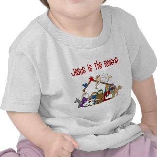 Jesus Is the Reason Manger Scene Shirt