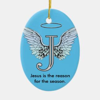 Jesus is the Reason of the Season Ceramic Ornament