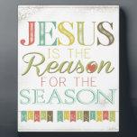 """Jesus is the reason plaque<br><div class=""""desc"""">Jesus is the reason for the season  Merry Christmas</div>"""