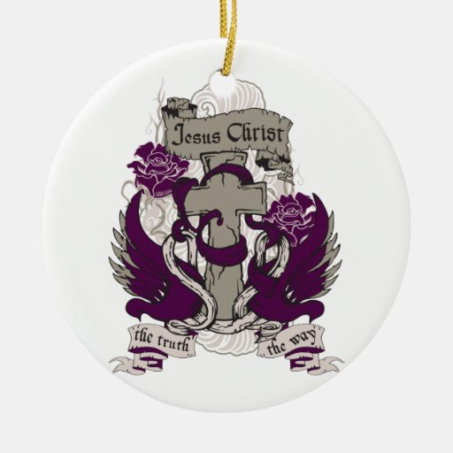 Jesus is The Truth and The Way Double-Sided Ceramic Round Christmas Ornament