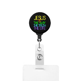 Jesus is the Way, the Truth, the Life Neon Badge Holder