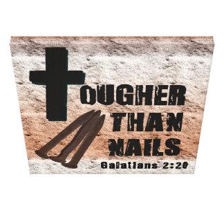 Jesus is tougher than nails, sin, satan, ect... canvas print