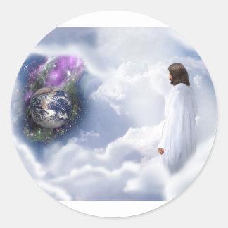 Jesus is Watching Classic Round Sticker