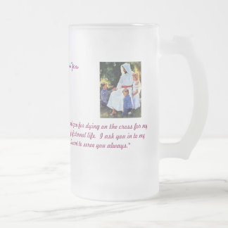 Jesus is with you Glass Frosted Glass Beer Mug