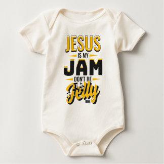 JESUS Jam Jelly Music Religious Christian Baby Bodysuit