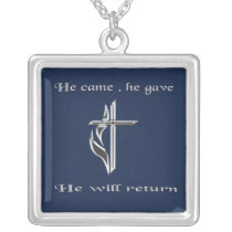 Jesus jewlery silver plated necklace