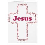 Jesus John 3:16 Card