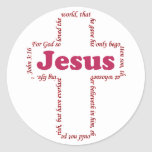 Jesus John 3:16 Classic Round Sticker