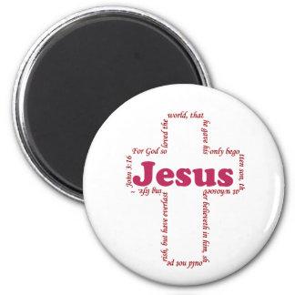 Jesus John 3:16 Fridge Magnet