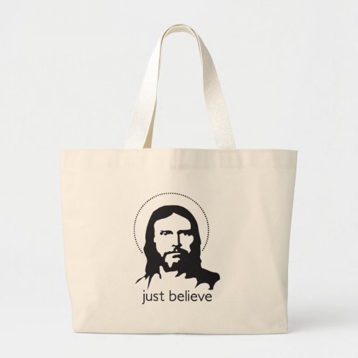 jesus just believe canvas bags