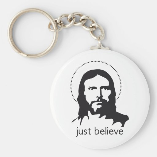 jesus just believe key chain