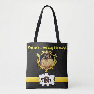 Jesus Keep calm and pray like crazy monogram bag 2