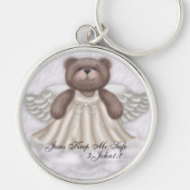magnet, bear, angel, angels, peace, christian, gospel, religious, key, chain, keychains, courage, Keychain with custom graphic design