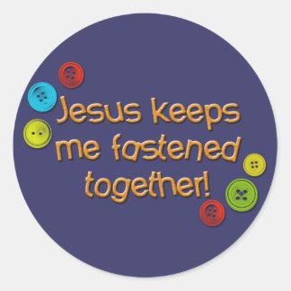 Jesus keeps me fastened together Sticker