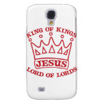 JESUS king of kings red Samsung Galaxy S4 Cover