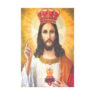 Jesus King Wrapped Canvas