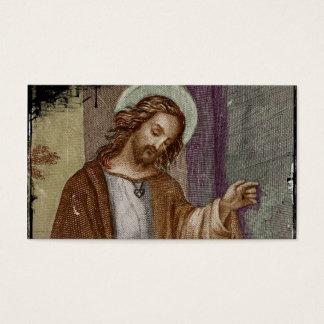 Jesus Knocking on Door Business Card