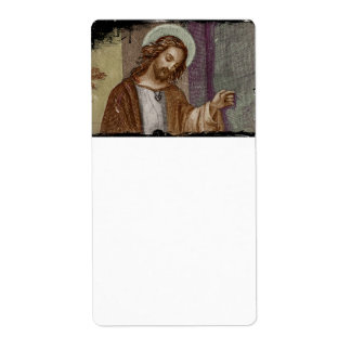 Jesus Knocking on Door Label