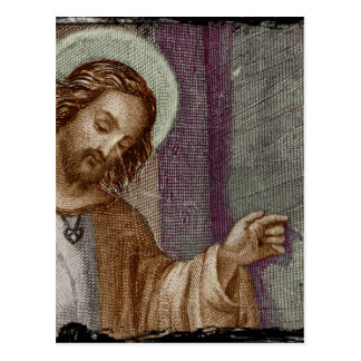 Jesus Knocking on Door Postcard