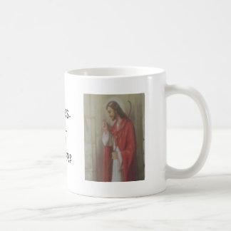 JESUS KNOCKS COFFEE MUG
