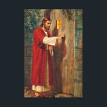 """Jesus Knocks On The Door Canvas Print<br><div class=""""desc"""">Here Jesus is knocking at a door. He says &#39;Behold! I stand at the door and knock. If anyone hears my voice and opens the door,  I will come in and dine with him,  and him with me.&#39; From Revelations 3:20</div>"""