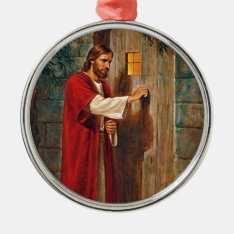 Jesus Knocks On The Door Metal Ornament at Zazzle