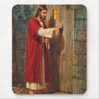 Jesus Knocks On The Door Mouse Pad