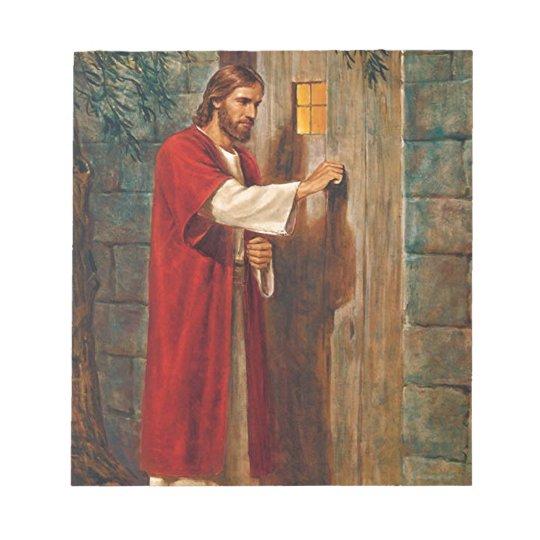 Jesus knocks On The Door Notepad