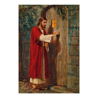 Jesus knocks On The Door Poster
