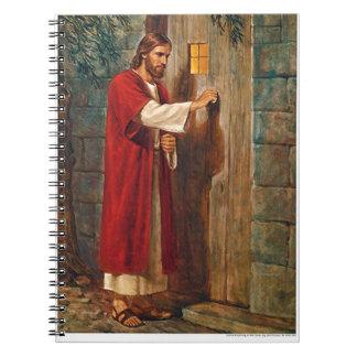 Jesus knocks On The Door Spiral Notebook