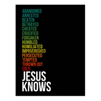 Jesus Knows Your Life: Humility of Christ Postcard