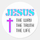Jesús la manera la verdad la vida pegatina