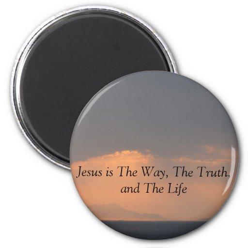 Jesús - La MANERA, La VERDAD y La LUZ Imán Redondo 5 Cm