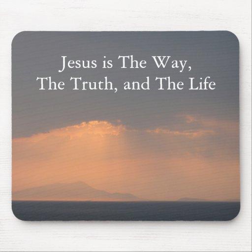 Jesús - La MANERA, La VERDAD y La LUZ Tapete De Ratón
