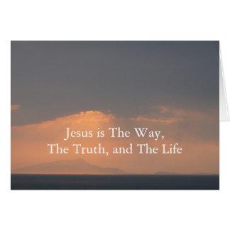 Jesús - La MANERA, La VERDAD y La LUZ Tarjeta De Felicitación
