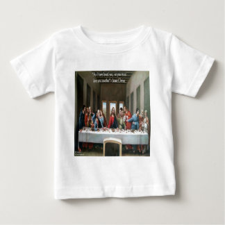 "Jesus @ Last Supper ""Love One Another"" Quote Baby T-Shirt"