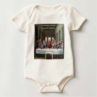 """Jesus @ Last Supper """"Love One Another"""" Quote Romper"""