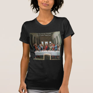 """Jesus @ Last Supper """"Love One Another"""" Quote T Shirt"""