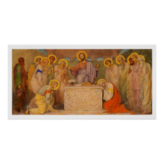 Jesus Last Supper with all Saints Poster