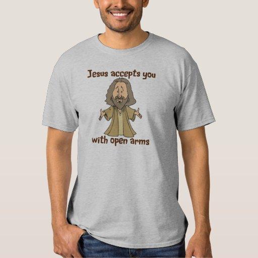 Jesús le acepta con los brazos abiertos poleras