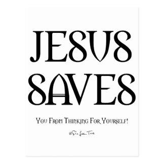 Jesús le ahorra del pensamiento tarjeta postal
