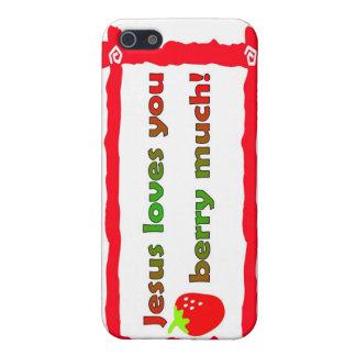Jesús le ama baya mucho, fresa iPhone 5 fundas