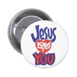JESÚS LE AMA BOTÓN PINS