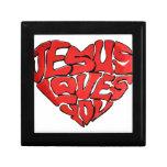 Jesús le ama cajas de recuerdo