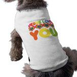 Jesús le ama camisetas de perrito