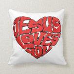 Jesús le ama cojines