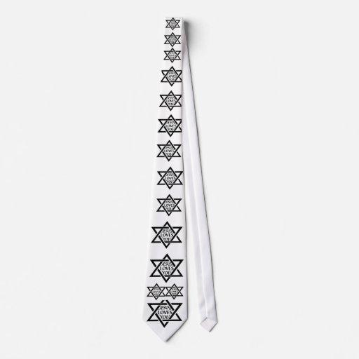 Jesús le ama - estrella judía corbata