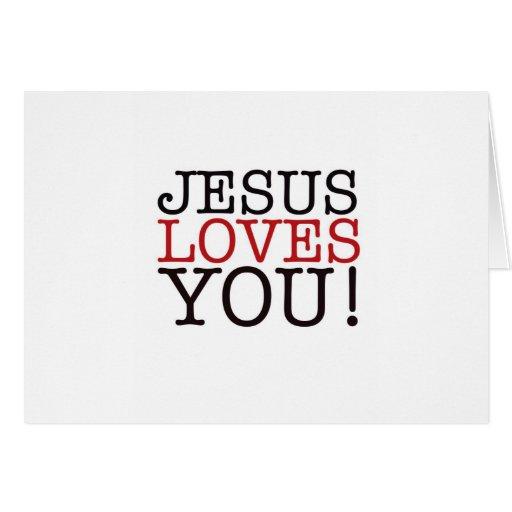 ¡Jesús le ama! Felicitacion