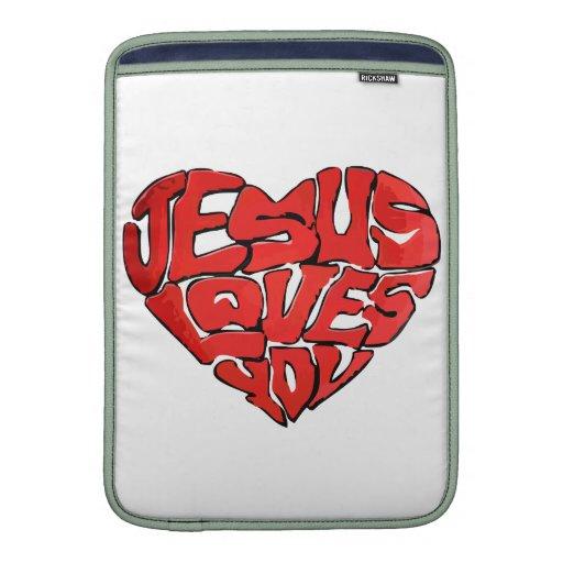 Jesús le ama fundas para macbook air