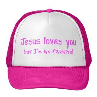 ¡Jesús le ama! Gorras De Camionero